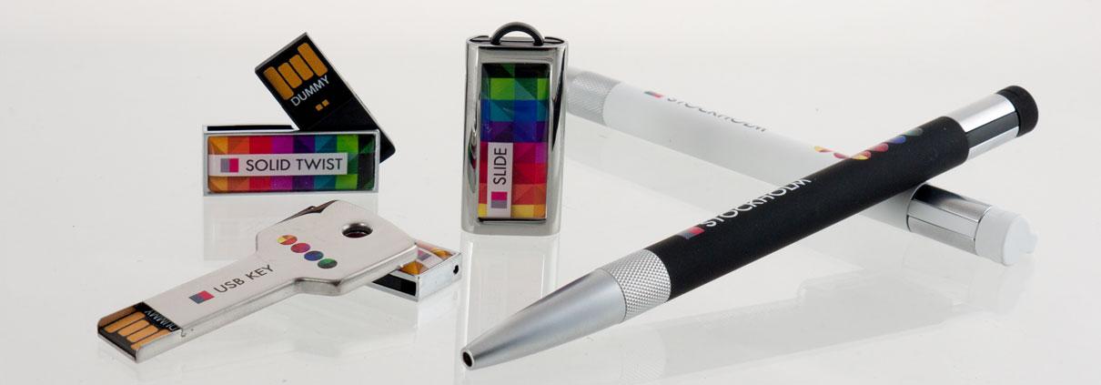 USB Sticks und USB Kugelschreiber mit Logodruck - Expresslieferung innerhalb 1 Woche.