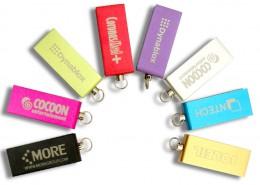 USB Stick Micro Twist in 8 attraktiven Farben lieferbar, Logo im Vollfarbdruck oder als Lasergravur möglich