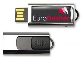 USB Stick Slide Vorderseite Logo im Vollfarbdruck mit Acrylschutzschicht (Doming), Rückseite mit ausfahrbarem USB Anschluss