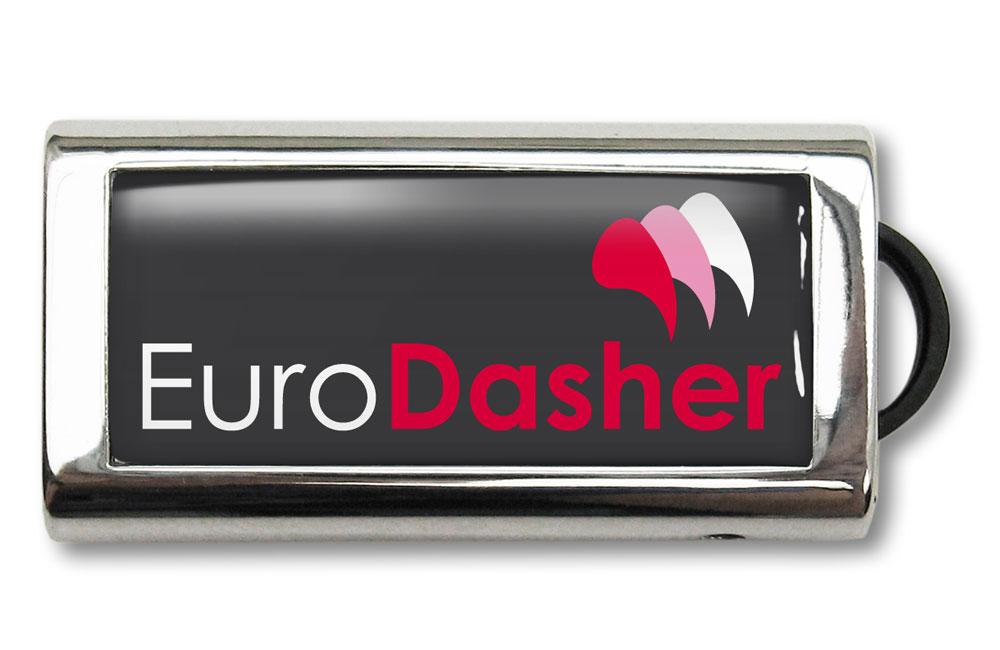 USB Stick Slide Logo im Vollfarbdruck mit Doming