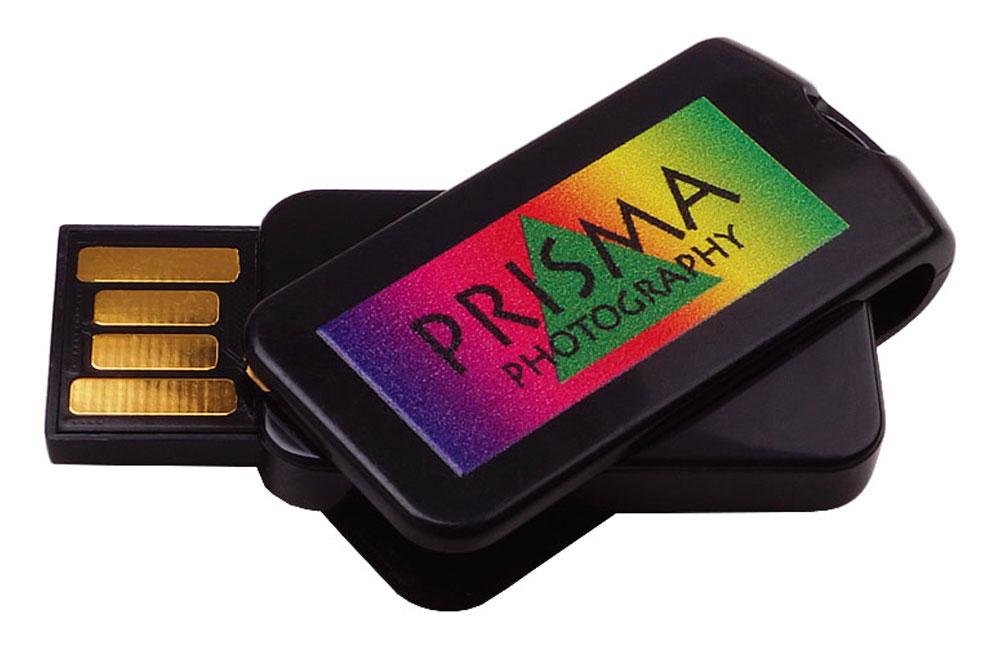 USB Smart Twist schwarz mit Vollfarbdruck