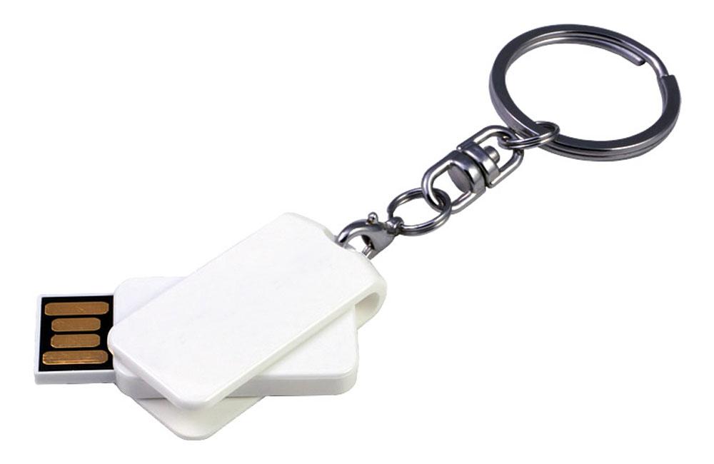 USB Smart Twist weiß mit Schlüsselanhänger