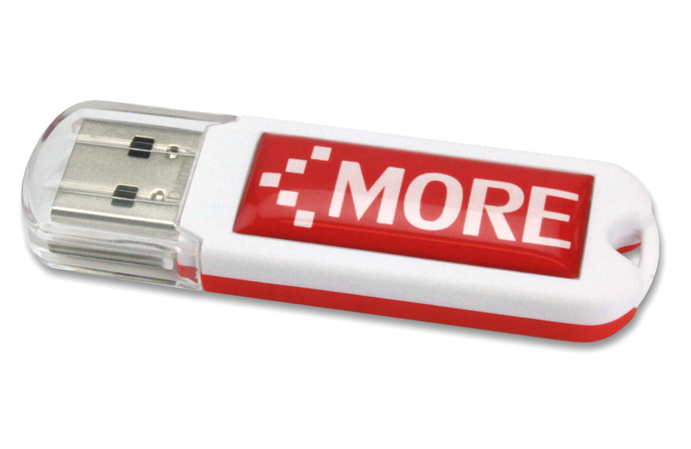 USB Stick Spectra 3.0 Vorder- und Rückseite in unterschiedlichen Farbkombinationen möglich