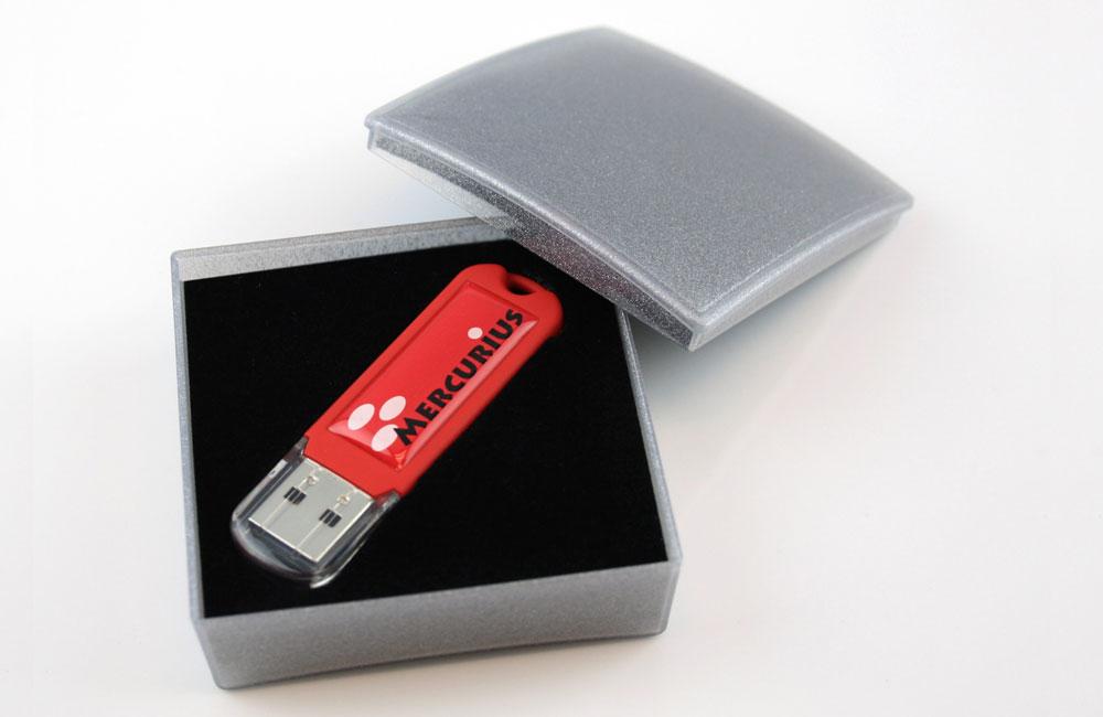 USB Stick Spectra 3.0 mit Vollfarbdruck und Doming in Geschenkbox Classic
