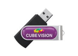 USB Stick Twister mit Doming